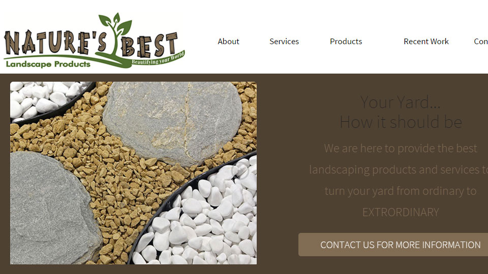Natures Best landscaping Products